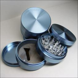 Sharpstone Herb Grinder 4 Piece Blue and a Cali Crusher Pres