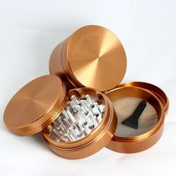 Large Sharpstone Herb Grinder 4 Piece Brown with a Cali Crus
