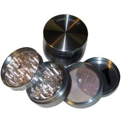 Large Sharpstone Herb Grinder 4 Piece Grey and a Cali Crushe
