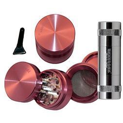 """1.5"""" - Pink SharpStone® Herb Grinder + SUPER SHREDDER Polle"""