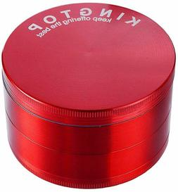KingTop Herb Spice Grinder Large 3.0 Inch Red - New - FREE S