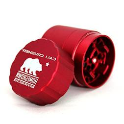 Cali Crusher Homegrown 4 Piece Pocket Grinder Red