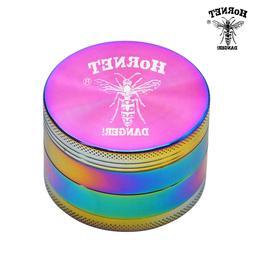 HORNET Rainbow Zinc Alloy Metal Tobacco Herb <font><b>Grinde