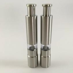 Kitchen Stainless Steal Salt And Pepper Grinder, Thumb Push,