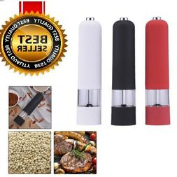 Kitchen Stainless Steel Electric Salt Pepper Spice Mill Grin