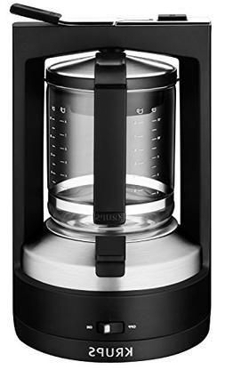 KRUPS KM4689 Moka Brewer Filter Coffee Maker, 10-Cup, Black