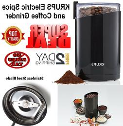 KRUPS F203 Electric Spice Coffee Grinder Black Stainless Ste
