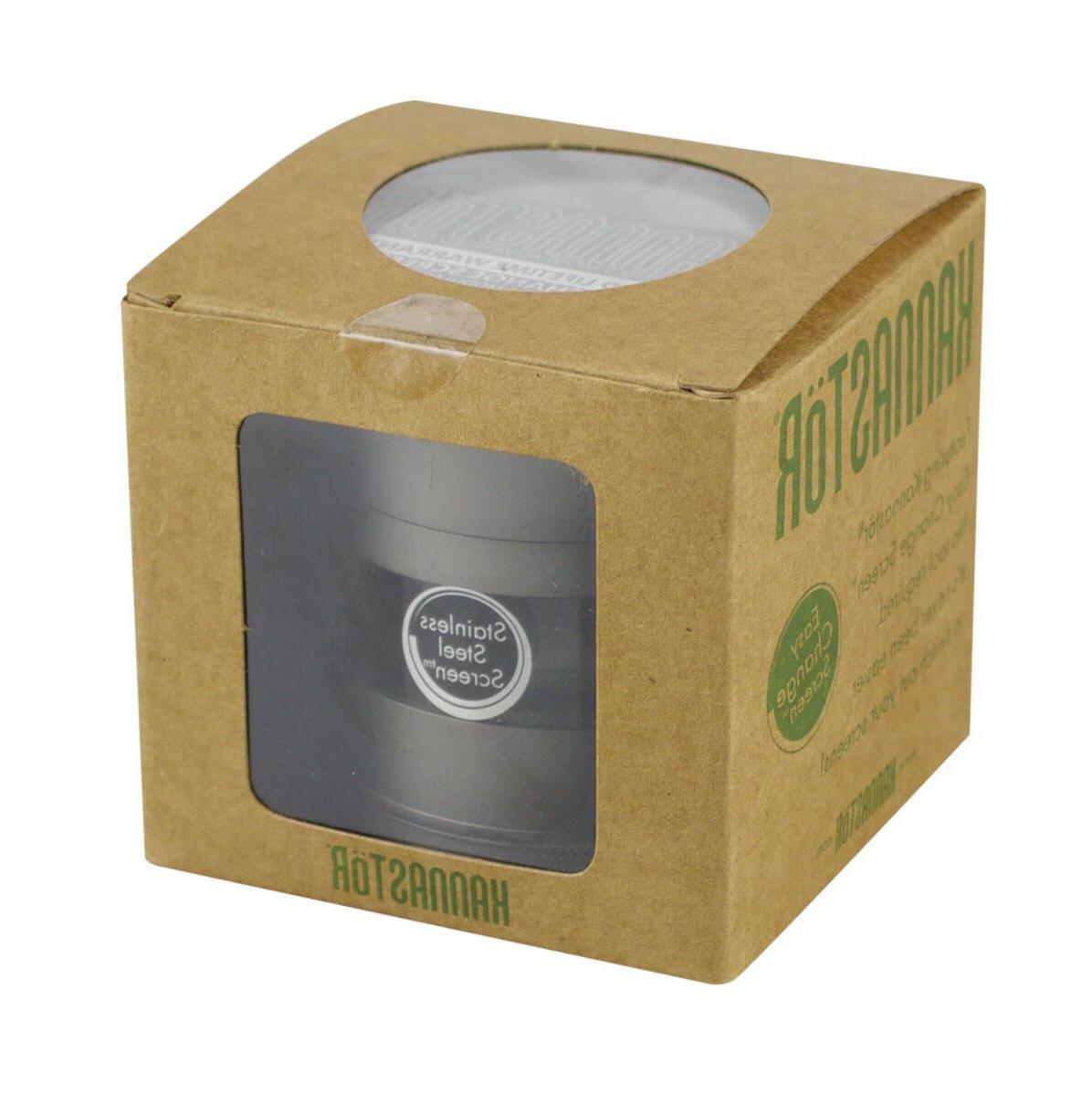 Kannastor 2.5 2.2 Inch GUNMETAL M4 Multi Chamber Grinder Jar & EZ