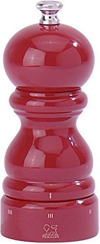 Peugeot 23577 Paris U'Select 5-Inch Salt Mill, Red Lacquer