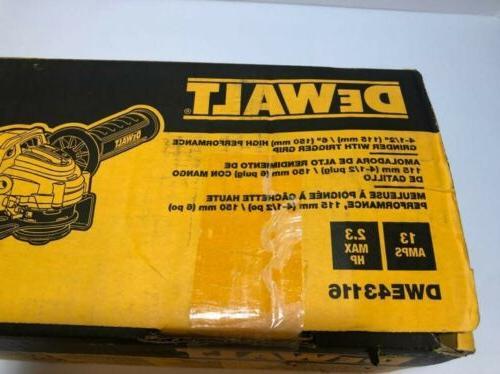 DEWALT 4-1/2 inch Angle GrinderDWE43116 Performance