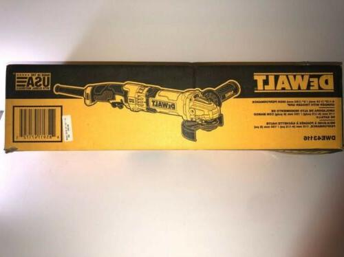 DEWALT Angle GrinderDWE43116 Trigger Performance
