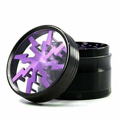 4 2.5 Lightning Pattern Herb Grinder