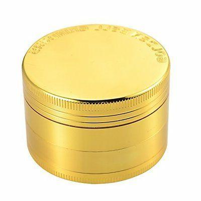 4 piece 2 spice herb grinder gold