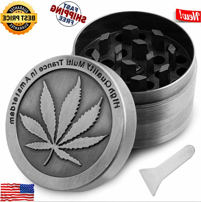 """Tobacco Herb Grinder Spice Herbal Crusher 4 Piece Metal 2"""""""
