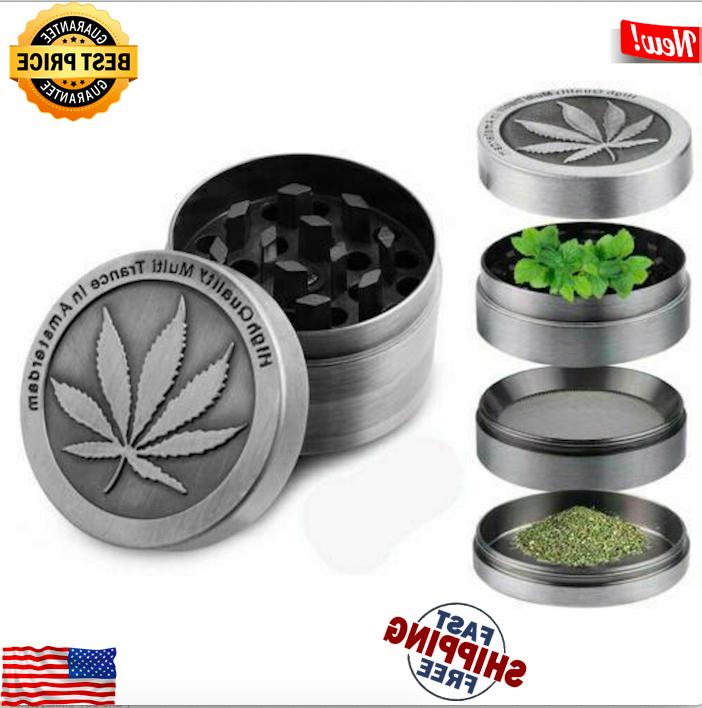 """Tobacco Herb Herbal Crusher 4 Piece Chromium 2"""""""