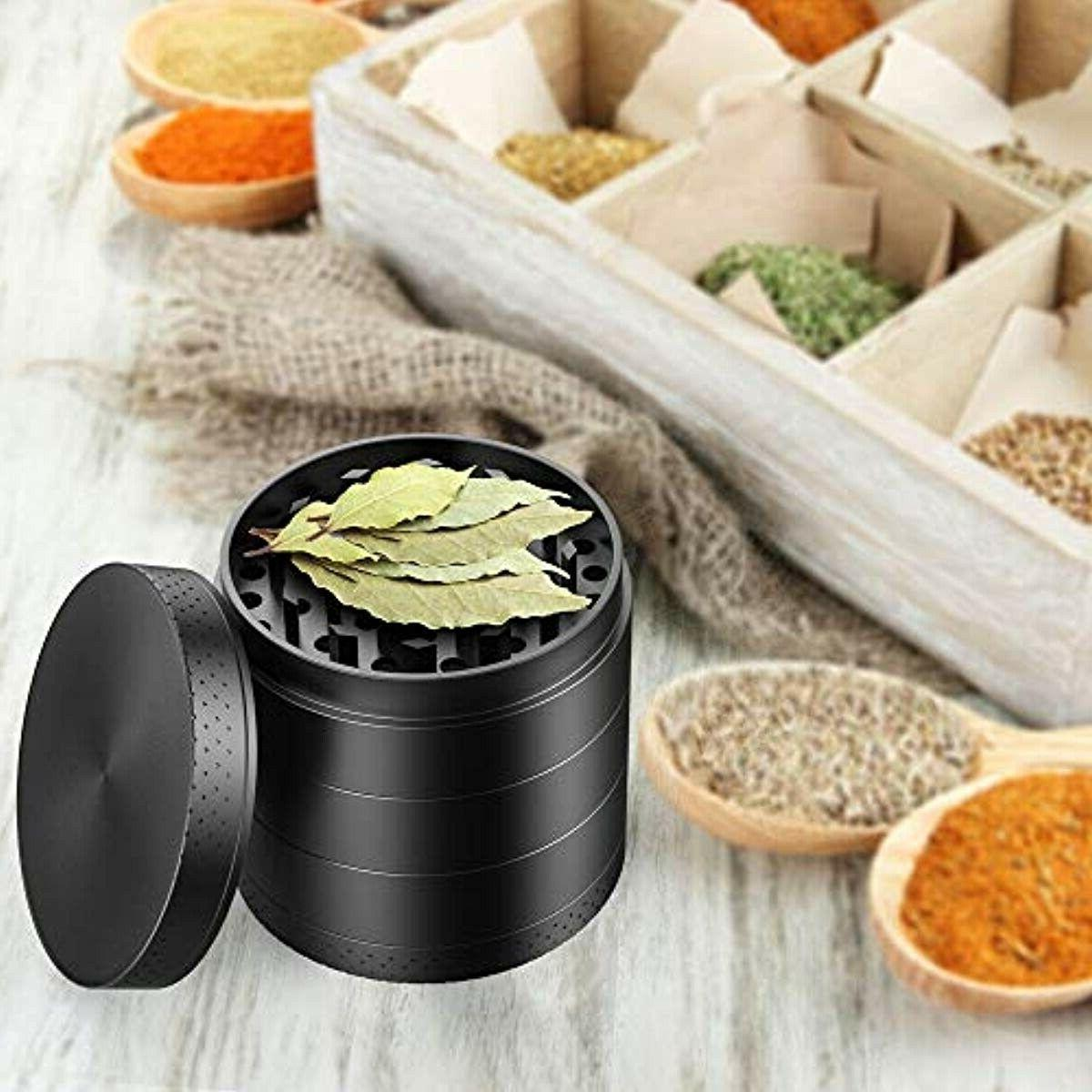 iRainy Spice Herb Grinder Inch, Black