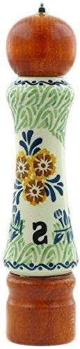 Polish Pottery 8¼-inch Salt Grinder  Signature UNIKAT + Cer