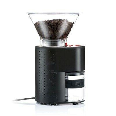 Bodum Bistro Burr Grinder, Electronic Coffee Grinder with Co