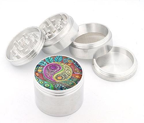 DIG Fashion Weed Design Indian Aluminum Spice Herb Grinder I
