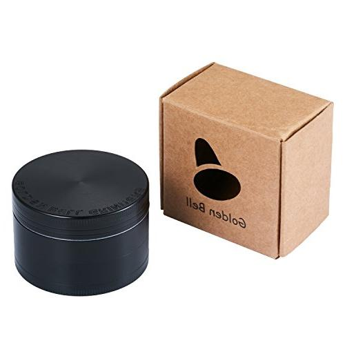 "Golden Bell 2"" Herb Grinder - Color:Black"