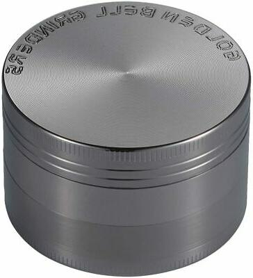"Golden Bell 4 Piece 2"" Spice Herb Grinder - Nickel Black"