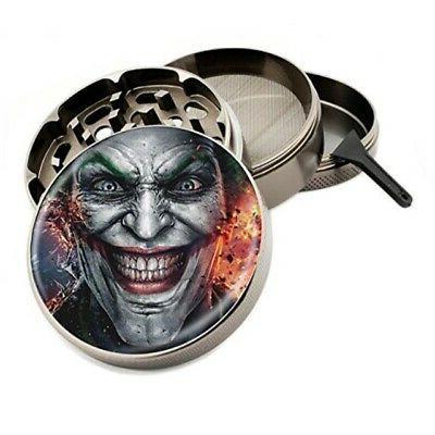 Joker Face Design Large Size Zinc Grinder With FREE Scraper