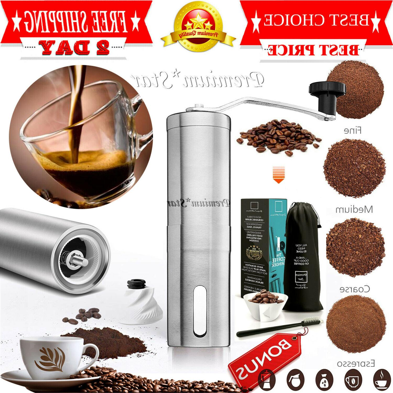 Manual Coffee Grinder   Travel Hand Burr Coffee Bean Grinder
