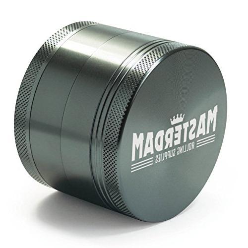 Masterdam Grinder, 2.5 inch, Gunmetal Grey, Anodized
