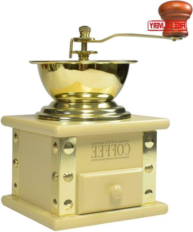 Bisetti Arpeggio Coffee Grinder, Cream