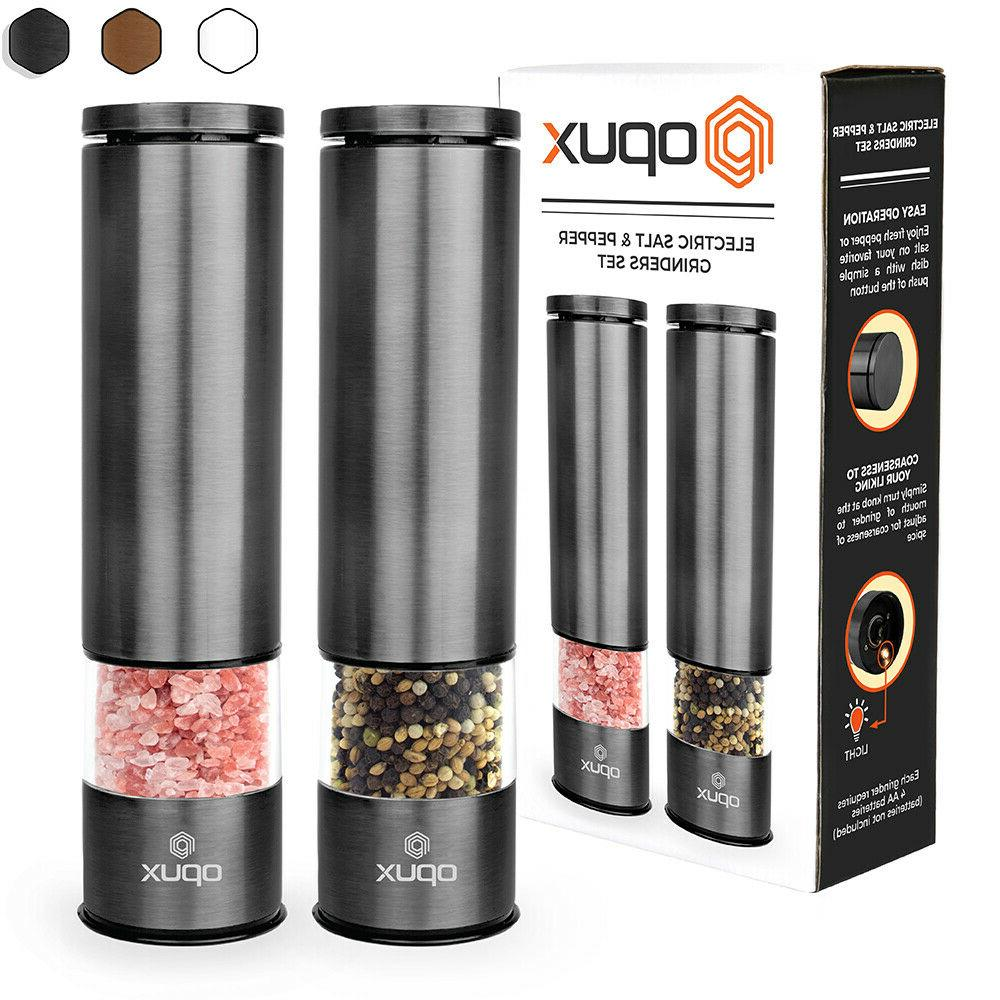 battery operated electric salt and pepper mill