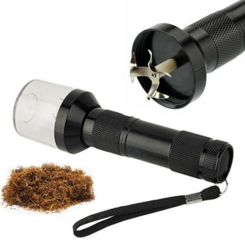 black electric grinder herb tobacco spice crusher