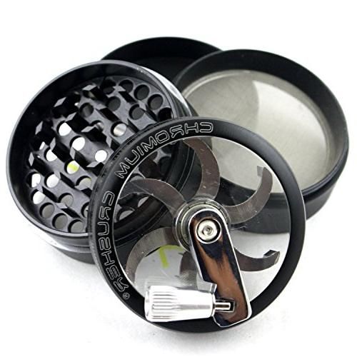 black tobacco spice herb grinder