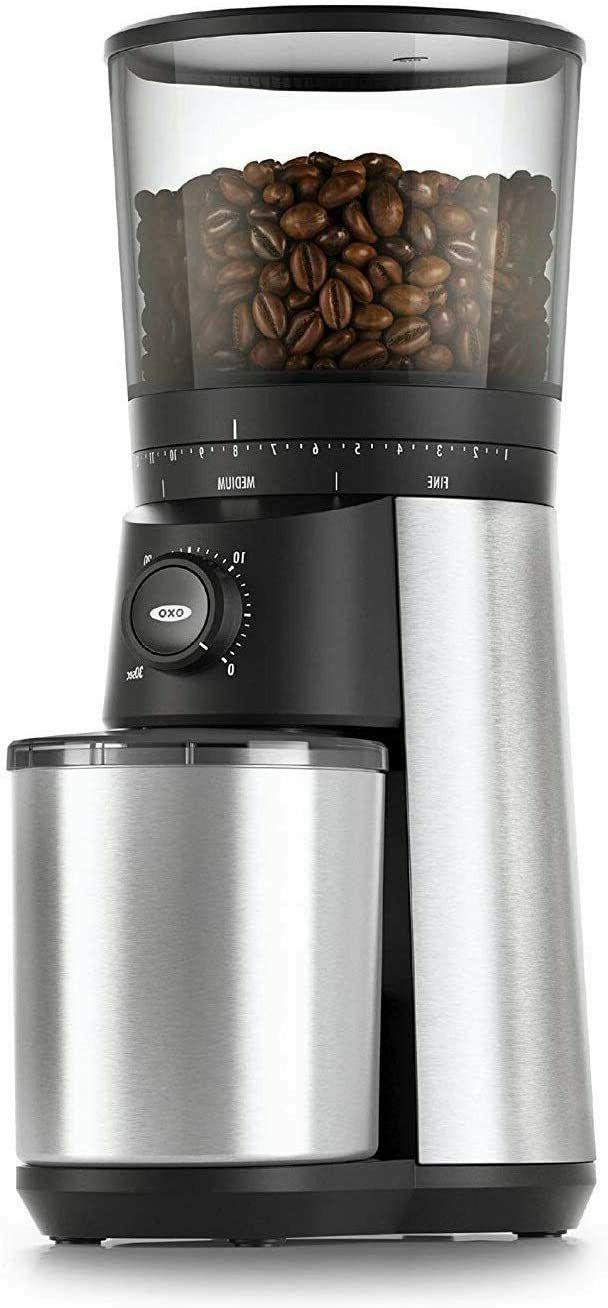 brew conical burr coffee grinder silver one