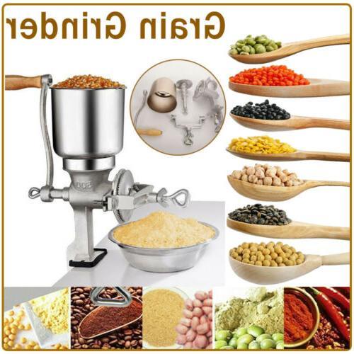 cast iron manual grinder grains corn coffee