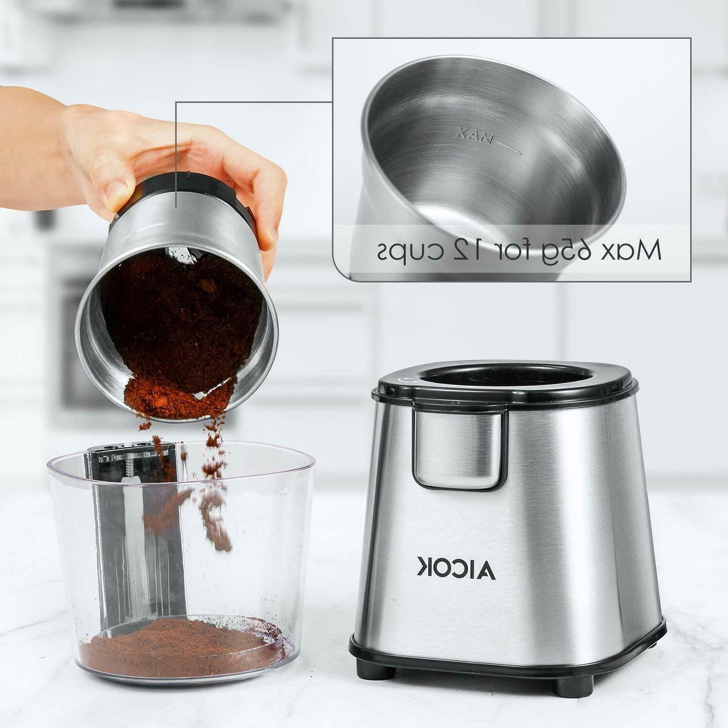 AICOK Coffee with Large Capacity Detachable Stainless Steel Bowl,