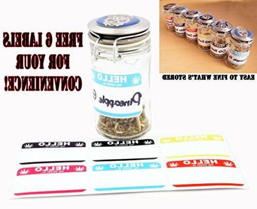 "Dig Bear 2.5"" Zinc Alloy & Glass Jar Gift #"
