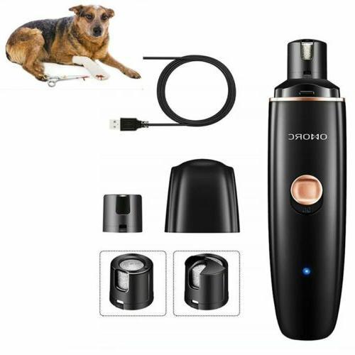 dog cat electric nail grooming grinder safe