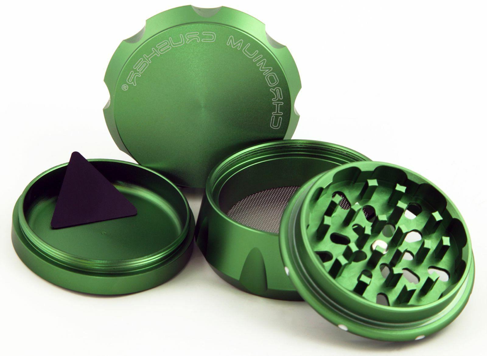 Chromium Crusher Inch 4 Piece Herb Grinder Green