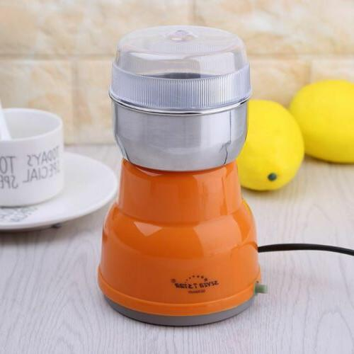 Electric Stainless Bean Grinder Home Machine Kitchen 220V