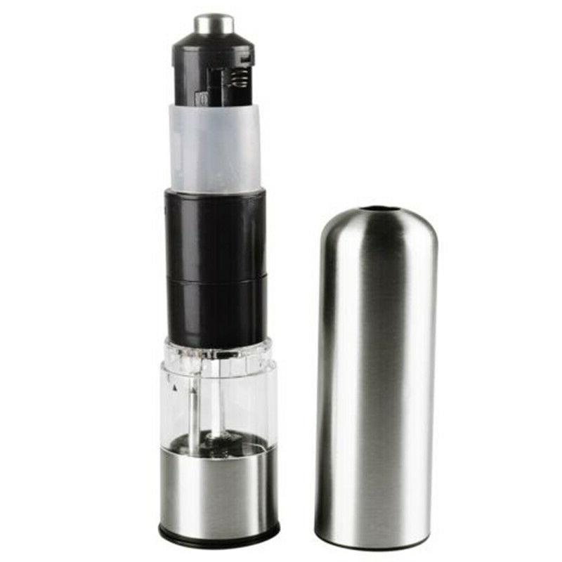 Electric Stainless Steel pepper mill salt grinder Home Kitch