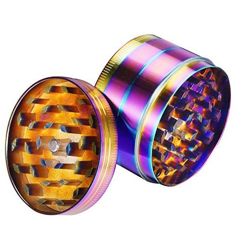 Grinder Zinc Alloy Rainbow Grinders Spice Grinder Herb Grinder Colorful magnetic top )