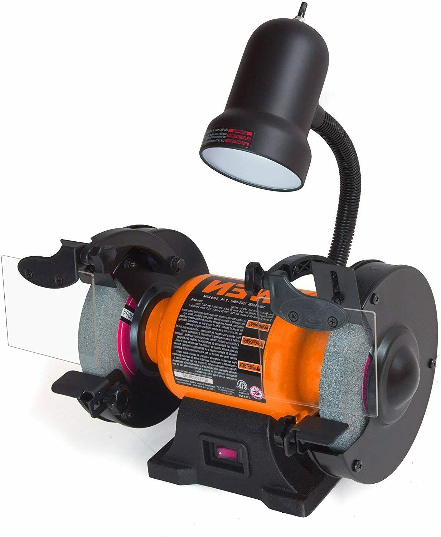 Heavy Duty Bench Grinder Wire Wheel Lightweight Work Light W
