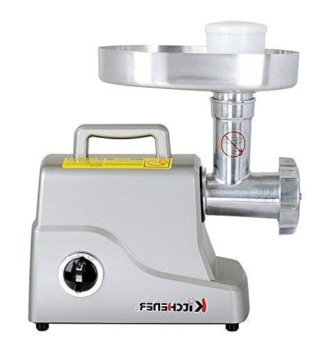 Kitchener Heavy Meat Grinder , with Stainless Steel Blade, Stainless Steel Grinding Plates and Stainless Plate