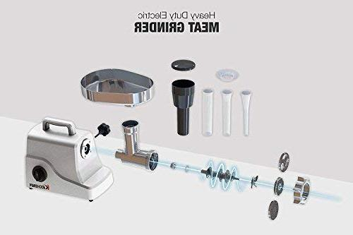 Kitchener Meat Grinder , Steel Stainless Steel and Steel Plate