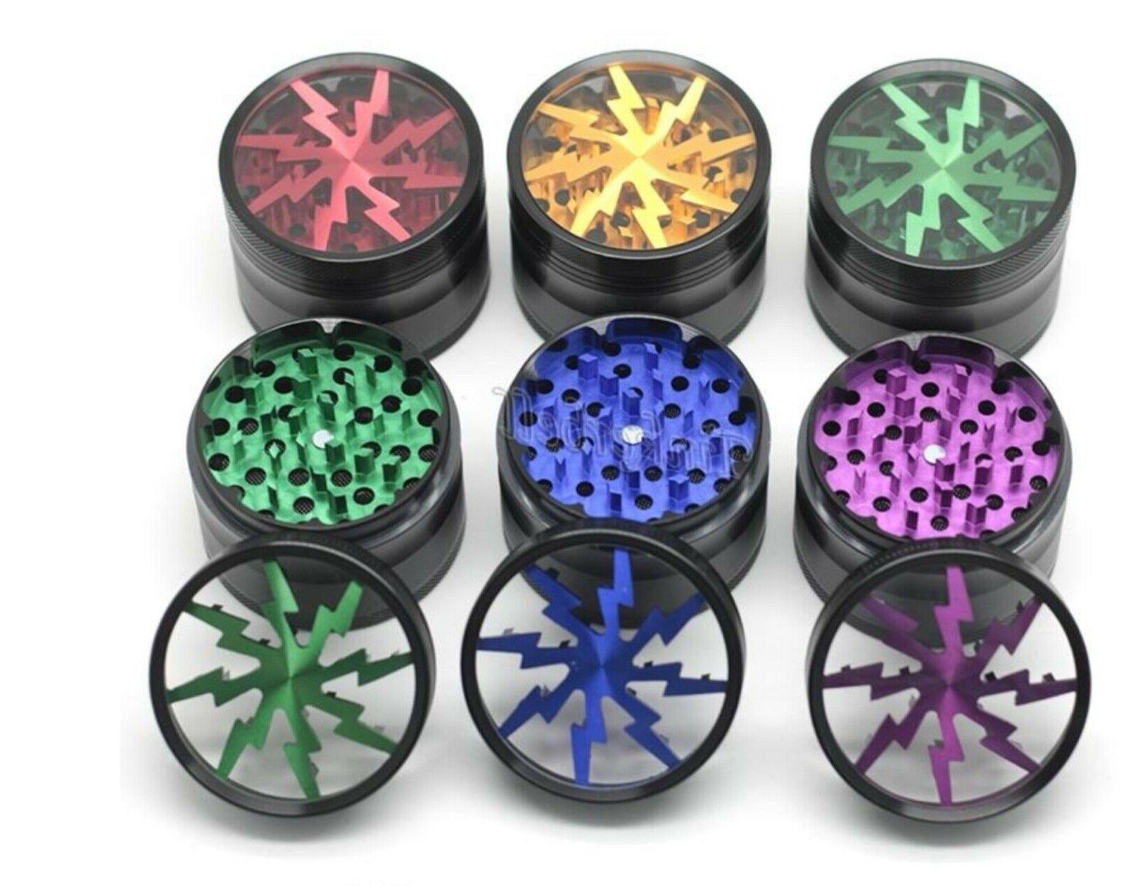 """Herb grinder by 2 1/2"""" alum 4 piece SELLER DAY SHIP"""