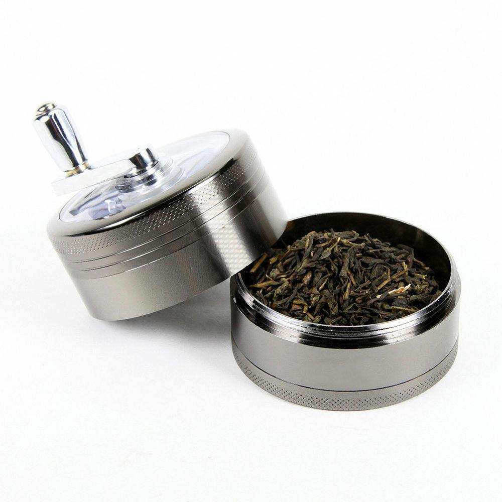 Herb Grinder Tobacco Piece Zinc Hand Silver 4pc