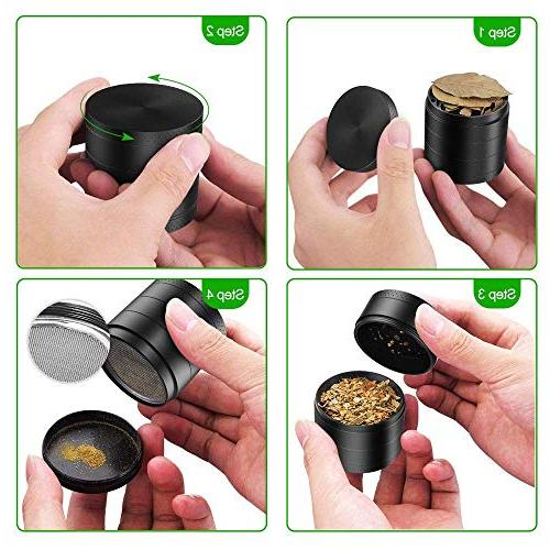 SmallDot Herb Grinder Large Inch with Two Screens