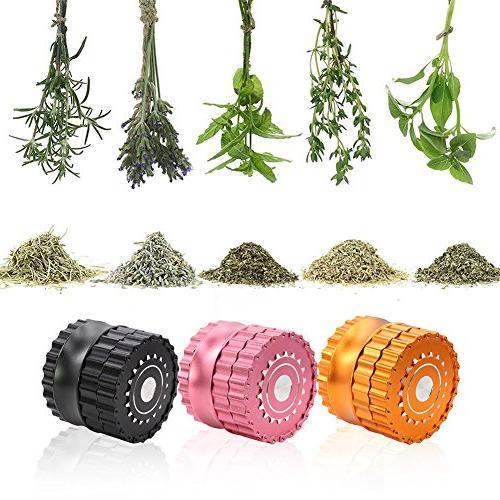 DCOU New Premium Herb 2.5 4 Grinder with chain Herb Grinder