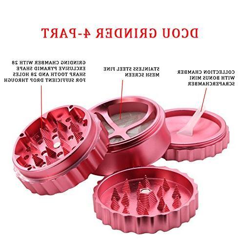 DCOU New Herb Grinder 4 Grinder with sharp chain