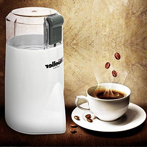 Mueller HyperGrind Electric Coffee Mill Large Grinding Capacity HD Motor also Spices, Herbs, Nuts, and More